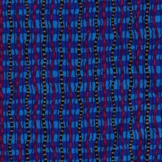Ethnic Wavy Stripe, Blau