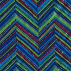 Ethnic Herringbone, Blau
