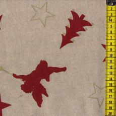 Baumwoll-Leinen Engeln, Bäumchen und Sterne