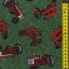 Traktoren auf Gras, Grün