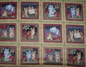 Wilhelm Morris Christmas Cats, Mini Panele