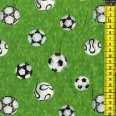 Fußbälle auf grünen Rasen