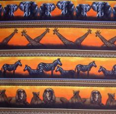 Serengeti-Quilt, Bordüre, Orange