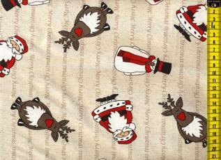 Baumwoll-Leinen Merry Christmas