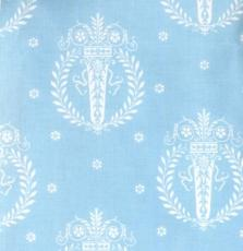 French Hat Box: Duck-Egg Blue Medallion Print