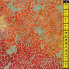 Batik, Summer Poppy, Orange