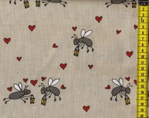Baumwoll-Leinen Bees in Love