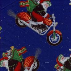 Santa aufn Harley, Blau