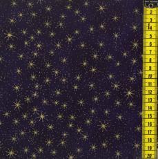 XMAS Eve Stars, Goldene Sterne, Dunkelblau
