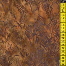 Batik, Honeysuckle, Braune Grässer auf Hellbraun