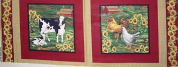 Farm Animals (Kühe & Hühner), Panel