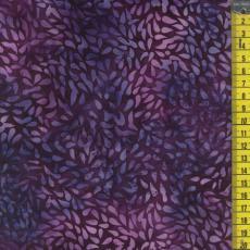 Batik, Blätter, Dunkellila
