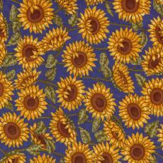 Sunflowers of Provence, Sonnenblumen, Blau