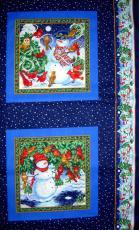 Schneemann Panel, Blau