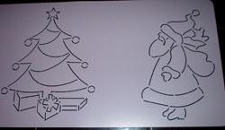 Schablone Weihnachtsmotive - 24cm Block