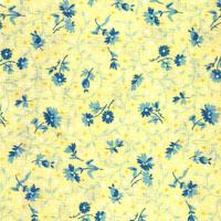 Flora, blaue Blumen, Hellgelb