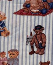 Teddy Bears, blau gestreift