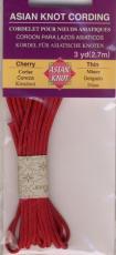 Asian Knot Kordel, Kirschrot, dünn