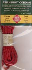 Asian Knot Kordel, Kirschrot, dick