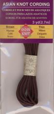 Asian Knot Kordel, Braun, dünn