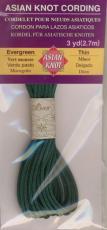 Asian Knot Kordel, Moosgrün, dünn