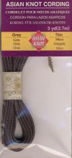 Asian Knot Kordel, Grau, dünn