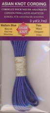 Asian Knot Kordel, Mittelblau, dünn