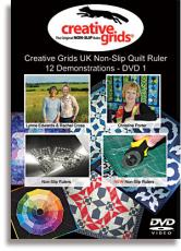 Creative Grids Non-Slip Quilt Ruler 12 Demonstrations DVD 1