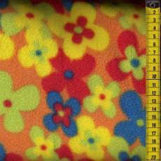 Fleece, bunte Blumen - Reststück: 1,0 m