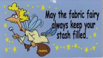Magnet: May the fabric fairy