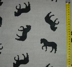 Baumwoll-Leinen Pferde