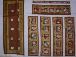 Wilhelm Morris Christmas Cats, Adventskalender, Gold