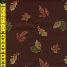 kleine Herbstblätter, dunkelbraun