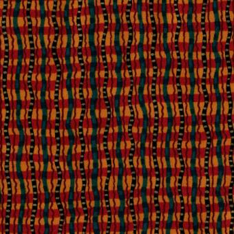 Ethnic Wavy Stripe, Rust