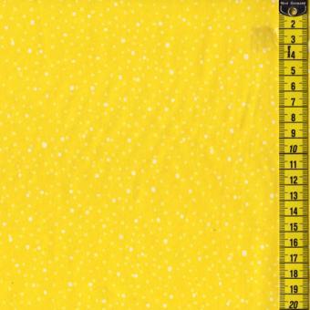 Yellow Mellow, kleine weiße Pünktchen auf Gelb