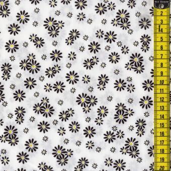 Yellow Mellow, Schwarze Blumen, Weiß