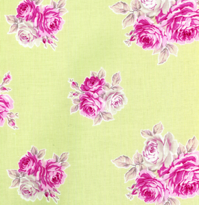 French Hat Box: Sage Green small Rose Print