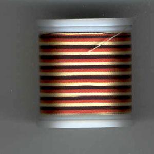 Rayon Garn, Multicolor (Schwarz/Rot/Gelb) 2054, No. 40, 200m