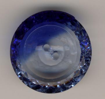 Acrylknopf, Blau - 30mm