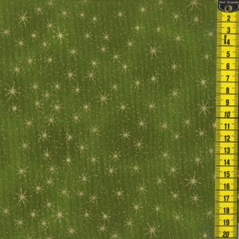 XMAS Eve Stars, Goldene Sterne, Grün
