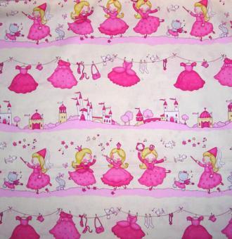 Prinzessinnen, Wäscheleine und Schloss, Rosa