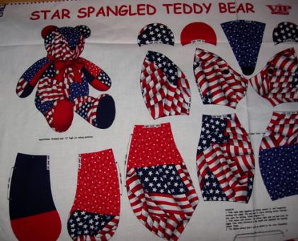 Star Spangeld Teddy Bear Panel