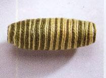 Häkelperle Olive, Grün - 40mm