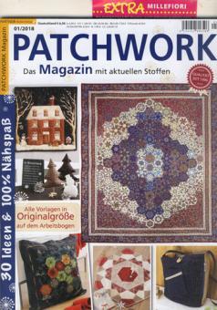Patchwork Magazin 01/2018 mit Extra Millefiori Papierschablonen