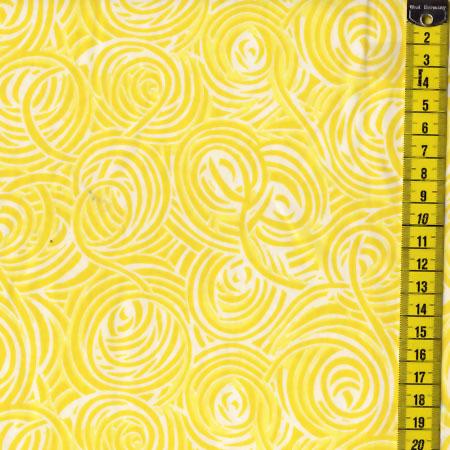 Yellow Mellow, Gelbe Kringel auf Weiß
