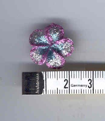 Glitzerblume, Rosa - 20mm