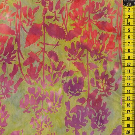 Batik, Summer Poppy, Rosa/Grün