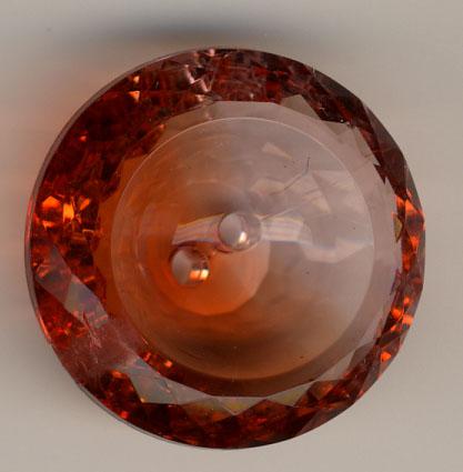Acrylknopf, Orange - 30mm