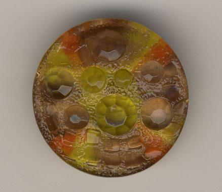 Glasknopf, gelb - 26mm