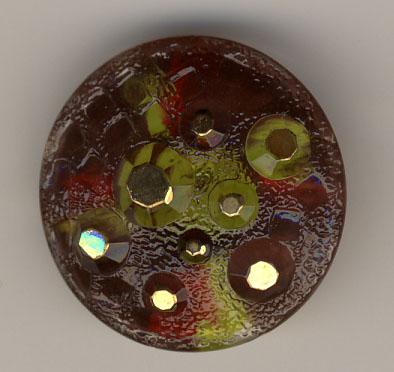 Glasknopf, aubergine - 26mm